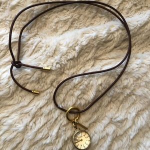 Coach Watch Pendant Necklace